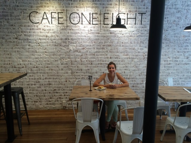 Leah in Cafe One Eight