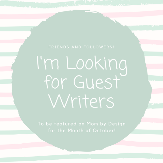 Looking for Guest Writers