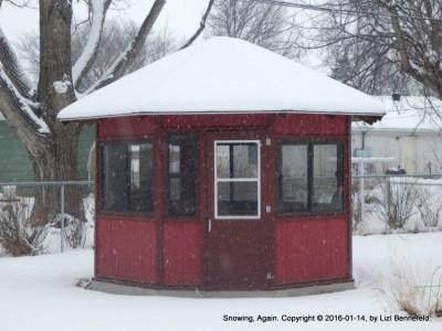 Gazebo Under Snow