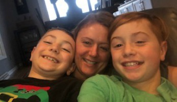 The Mom Huddle- Heather and her boys hit the pause button to snuggle