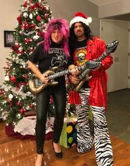 Fun as a couple- Rock N Roll outfits on Heather and Jeremy