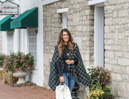 Look of the Day: Plaid Wrap and Denim