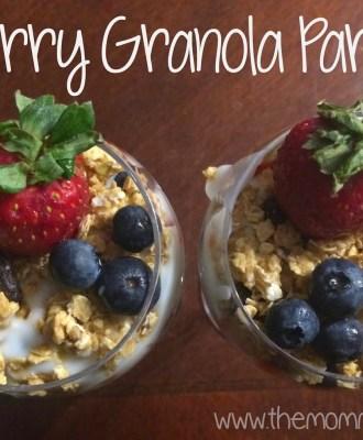 Berry Granola Parfait After School Snack Recipe