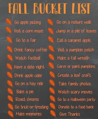Fall Bucket List — Free Printable!