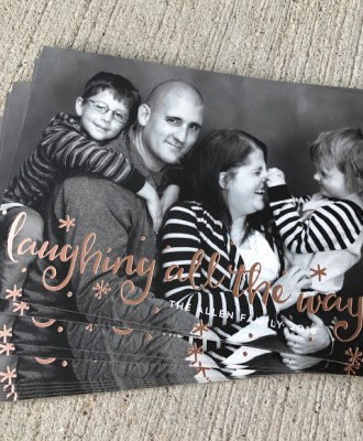 Our 2016 Family Photos and Holiday Cards with Minted