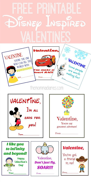 Printable Disney Inspired Valentines