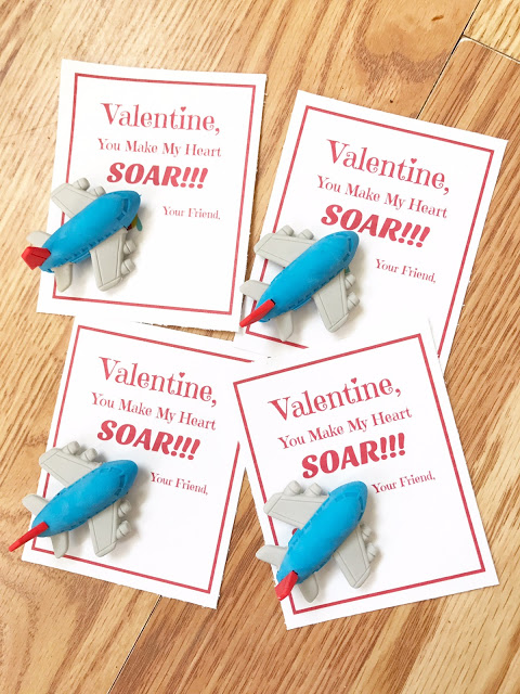 DIY Airplane Valentines