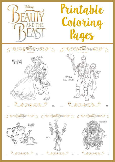 Beauty And The Beast Gifts For Everyone The Momma Diaries - beauty and the beast coloring pages live action