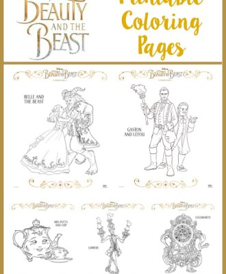 BEAUTY AND THE BEAST — Printable Coloring Pages!!