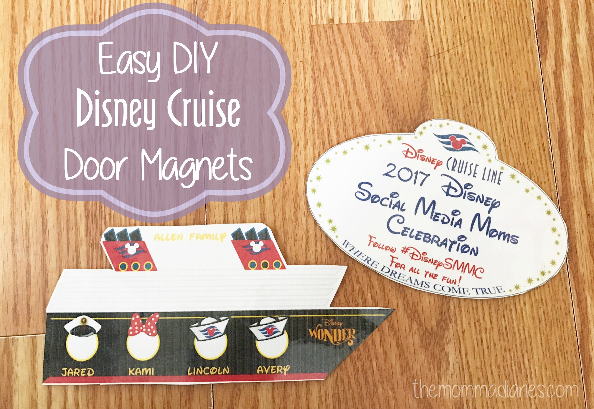 Customizable for a unique cabin door decoration Cruise theme magnet