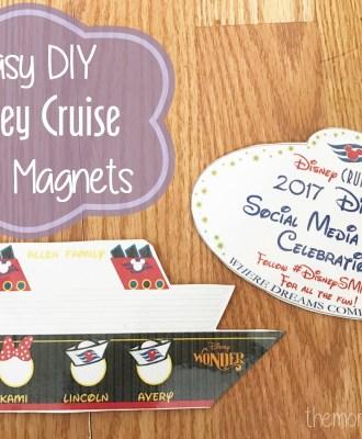 Easy DIY Disney Cruise Door Magnets