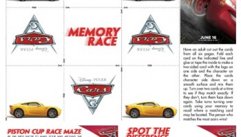 CARS 3 Activity Sheets And New Trailer