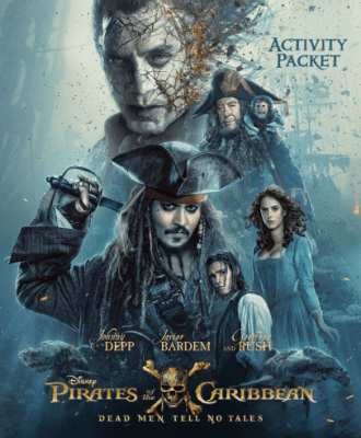 PIRATES OF THE CARIBBEAN: DEAD MEN TELL NO TALES – Activity Sheets