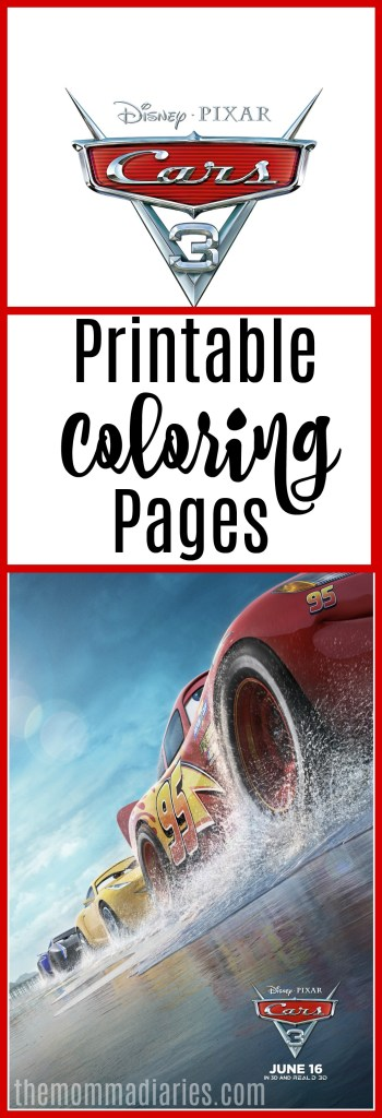 CARS 3 Movie Review Printable Coloring Pages The Momma Diaries