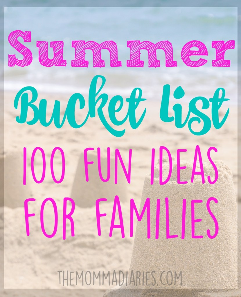 Summer Bucket List, Summer Bucket List Ideas for Families, Summer Bucket List ideas