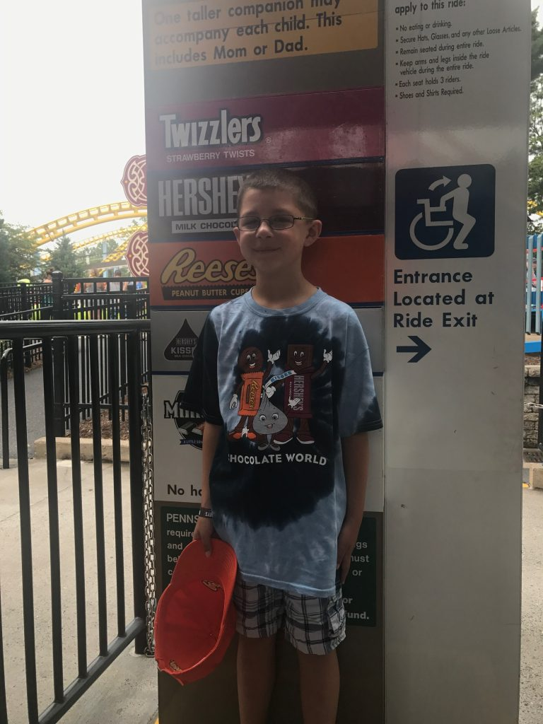 Hersheypark official height measurement station