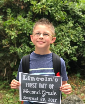 Lincoln's First Day of Second Grade