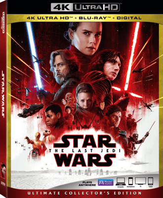 Star Wars The Last Jedi DVD is Now Available!