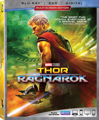 Marvel Studios' THOR: RAGNAROK Arrives on 4K Ultra HD™, Blu-ray™, DVD and On-Demand!