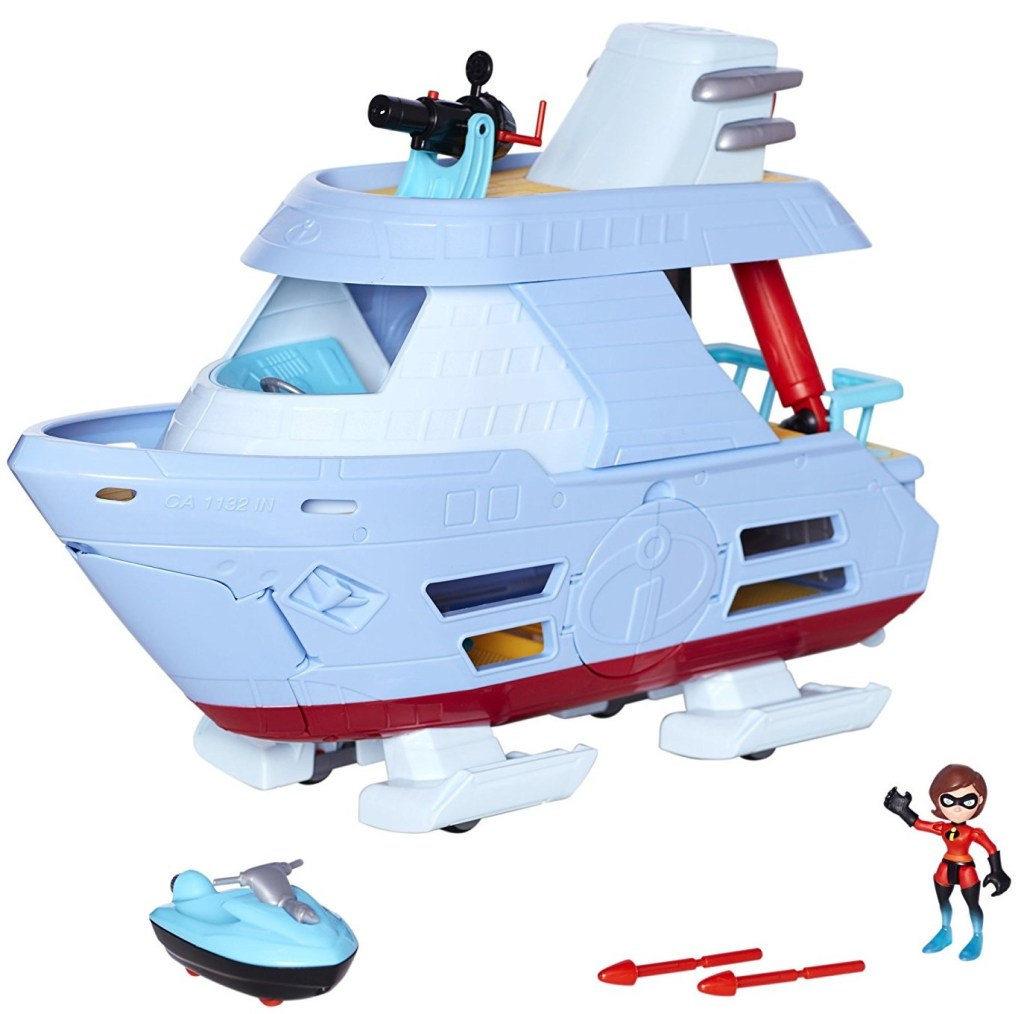 The Incredibles 2 Hydroliner (Ship) Action Playset comes with Elastigirl