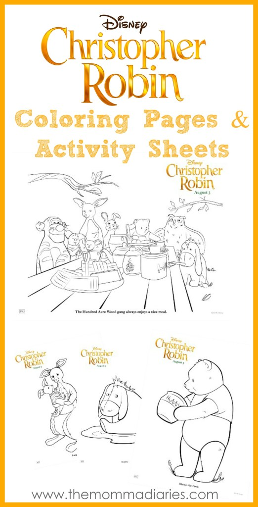 Christopher Robin Coloring Pages Activity Sheets The Momma Diaries