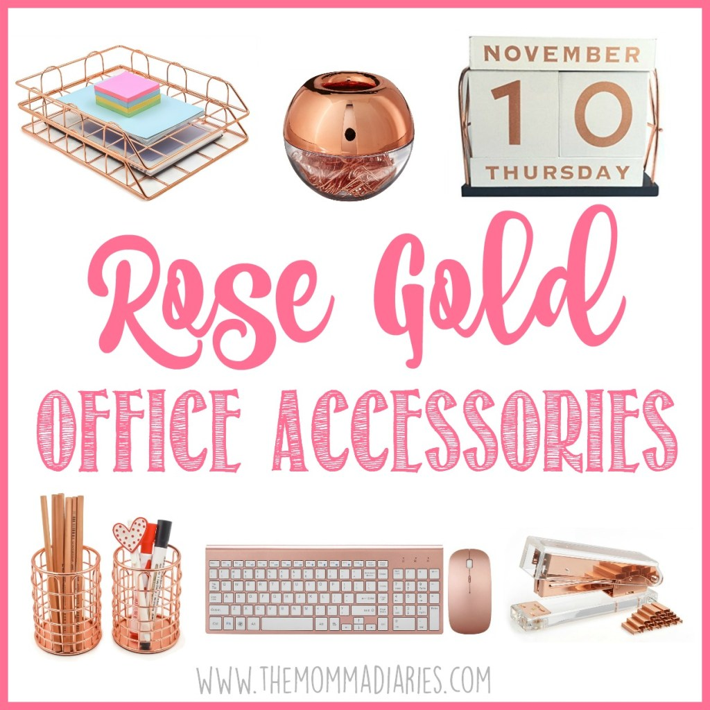 Rose Gold Office Accessories, Rose Gold Office, Rose Gold Office Essentials