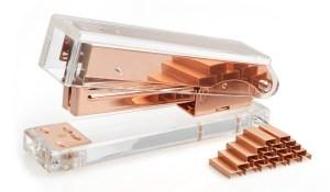 Rose Gold Desktop Stapler