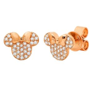 Minnie Rose Gold Earrings