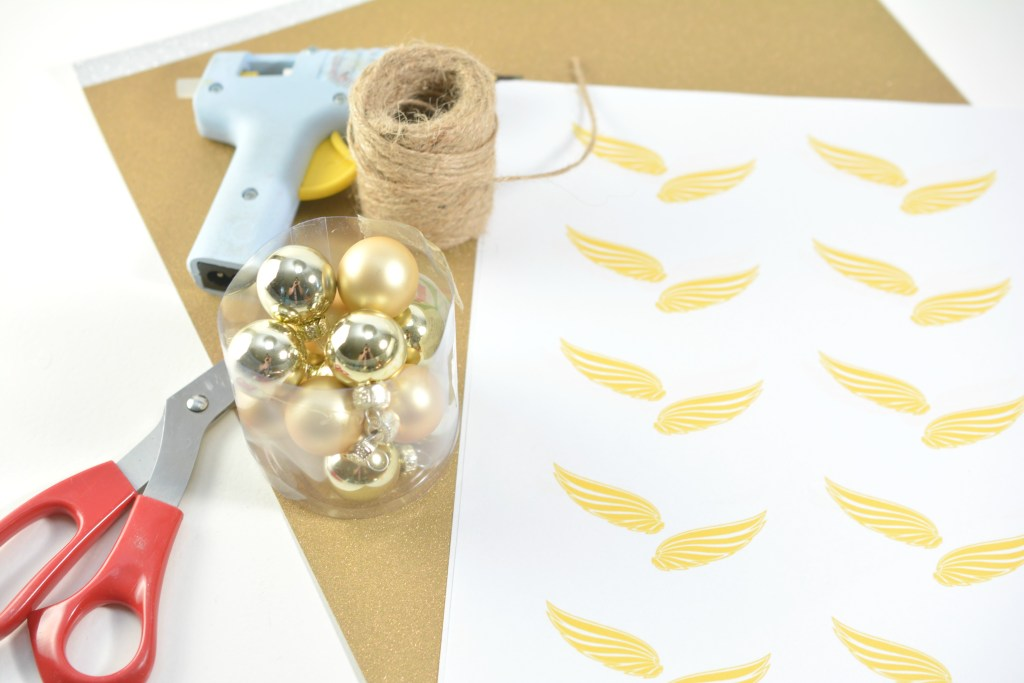 Harry Potter Golden Snitch Ornament Supplies