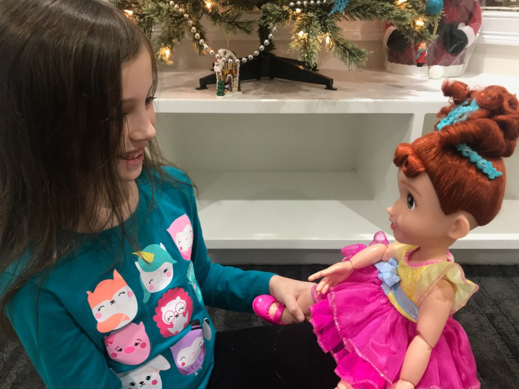 Fancy Nancy and child playing