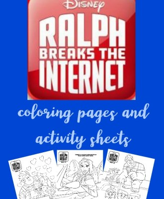 Ralph Breaks the Internet Coloring Pages + Activity Sheets