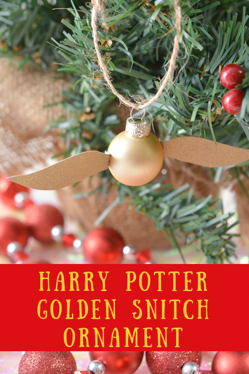 Harry Potter Golden Snitch Ornament, Golden Snitch Ornament, Quidditch Ornament, Harry Potter Ornament, Harry Potter Christmas Ornament, Harry Potter Golden Snitch Christmas Ornament, Handmade Harry Potter Ornament, DIY Harry Potter Ornament, #HarryPotter