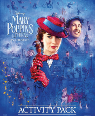 Mary Poppins Returns Coloring Pages + Activity Sheets