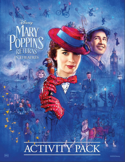 Mary Poppins Returns Coloring Pages, Mary Poppins Returns Activity Packet, #MaryPoppinsReturns