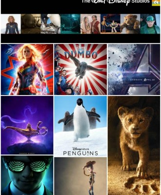 2019 Walt Disney Studios Movie Releases