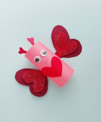 DIY Valentine's Day Butterfly Craft For Kids