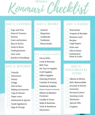 Free Printable KonMari Checklist