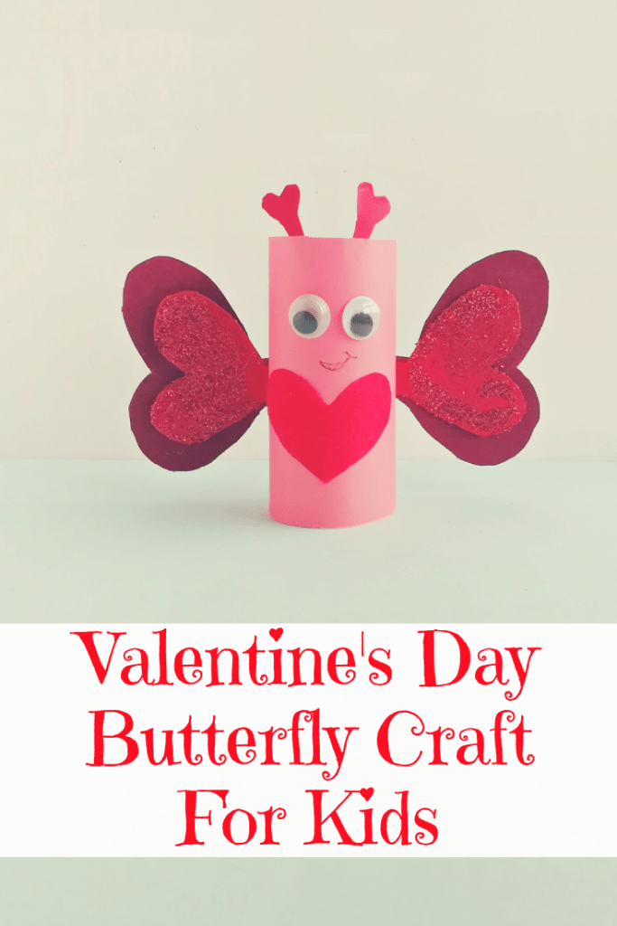 Valentine's Day Butterfly Craft For Kids, DIY Valentine's Day Butterfly Craft For Kids, kids valentine's day crafts, kids valentines craft, easy valentines for kids, easy kids valentine's day craft, butterfly craft, kids butterfly craft, love bug valentines, #ValentinesDay, #KidsCrafts
