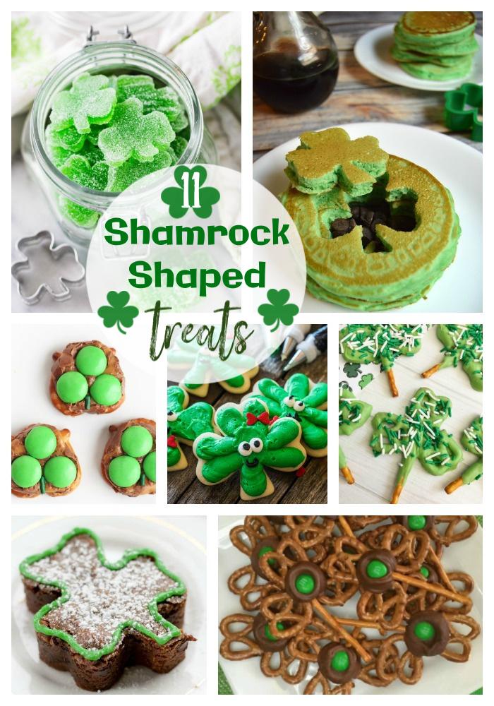 shamrock shaped snacks, shamrock treats, st patrick's day snacks, st. patrick's day treats, #stpatricksday