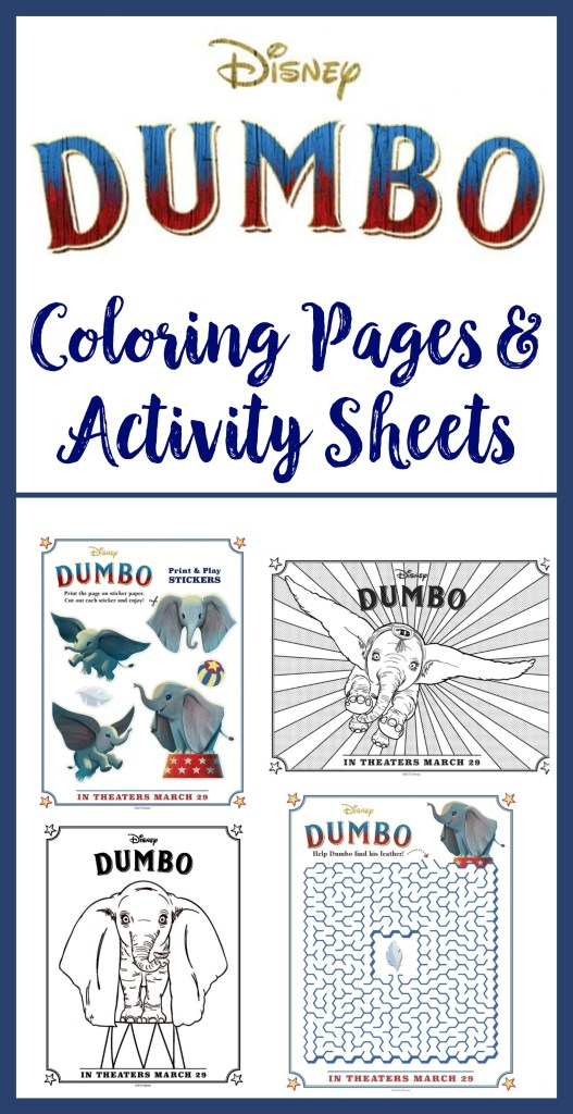 Dumbo Activity Sheets, free dumbo printables, dumbo coloring pages, dumbo activity packet, #DUMBO