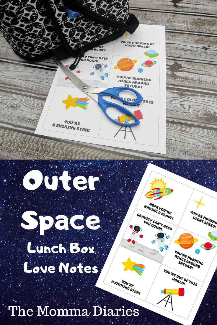 outer space lunchbox notes, printable lunchbox notes, free lunchbox notes, free printable lunchbox notes, space lunchbox notes, planets lunchbox notes, galaxy lunchbox notes, kids lunchbox notes, back to school printables