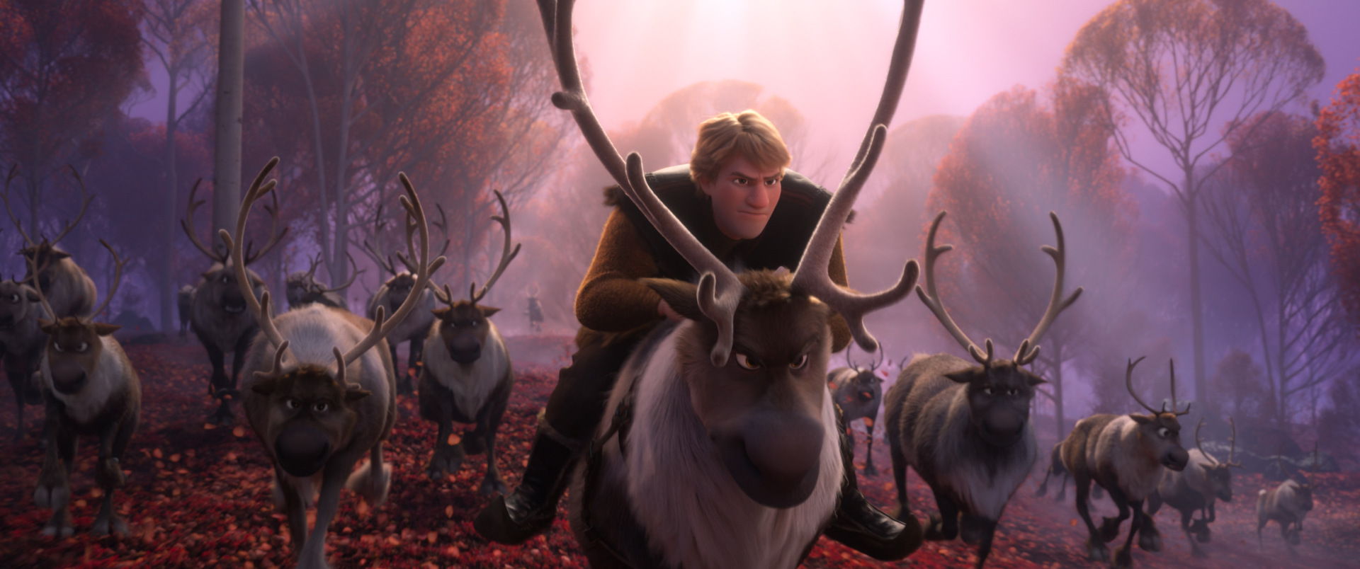 Jonathan Groff as Kristoff and Sven in Frozen 2