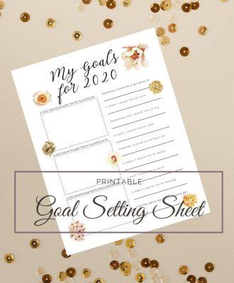 2020 Goal Setting Printable