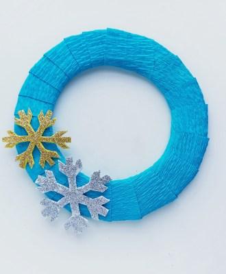 Frozen Inspired Wreath Craft