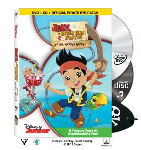 Jake and the Neverland Pirates on DVD and CD Today