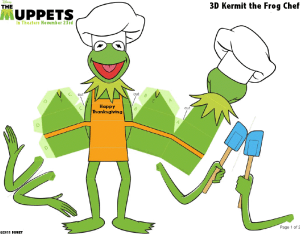 Muppets Week-Thanksgiving Kermit