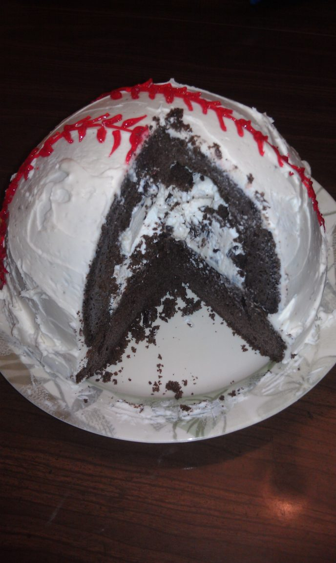Easy Recipes How To Make A Baseball Cake The Mom Maven