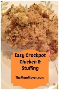 Easy Recipes- Crockpot Chicken & Stuffing