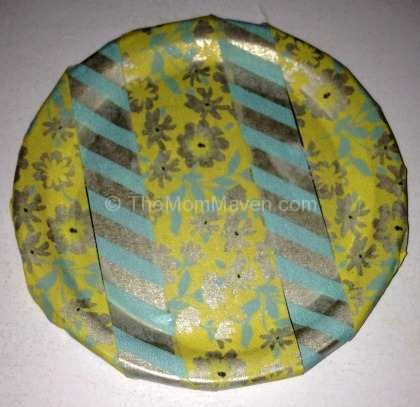 Washi tape mason jar lid insert
