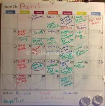dry erase editorial calendar